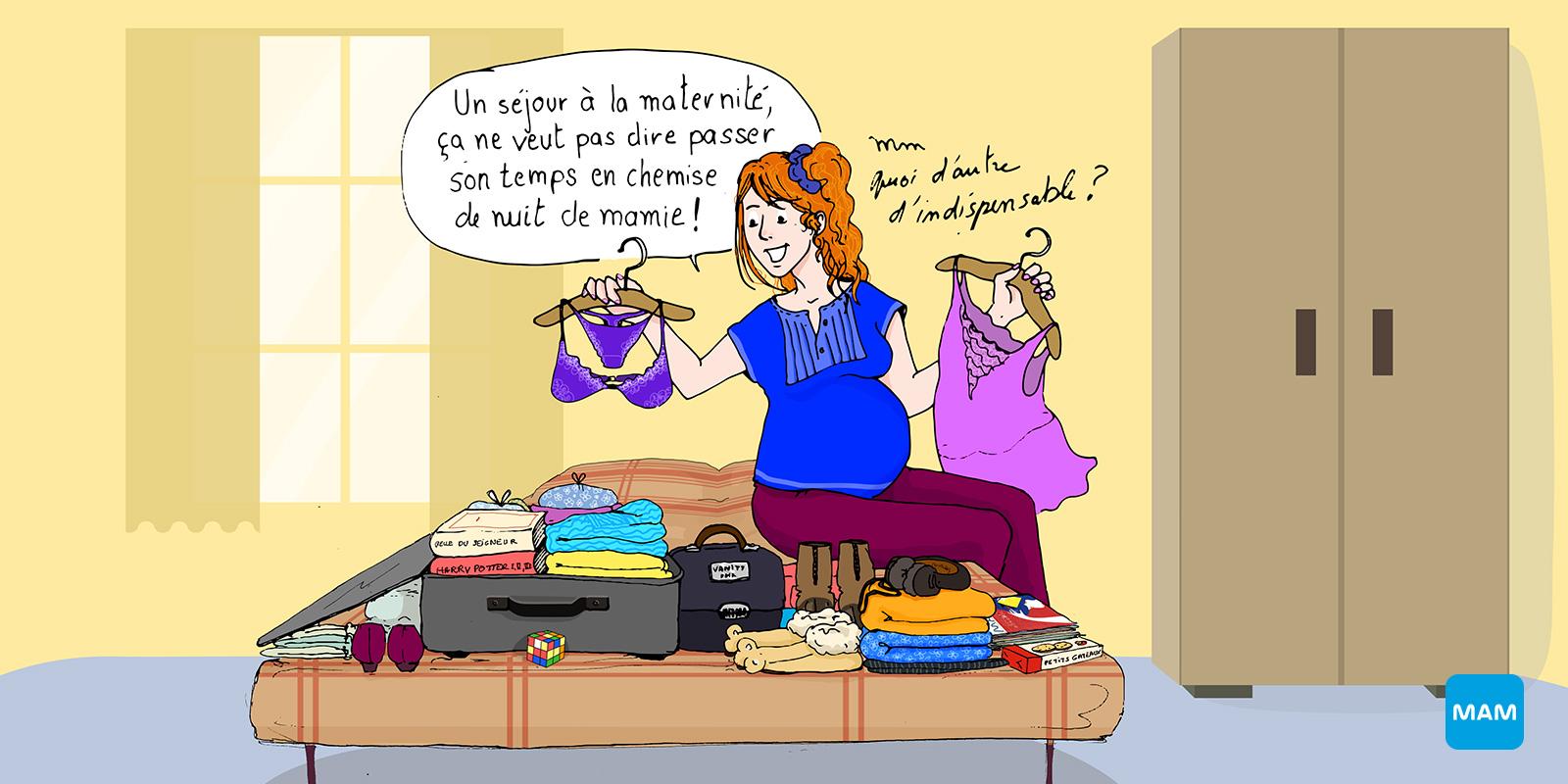 Valise de maternité - 3eme trimestre de grossesse - Bonjour Grossesse